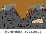 garbage dump. throw away waste. ...   Shutterstock .eps vector #632315573