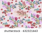 seamless background with cute...   Shutterstock .eps vector #632321663