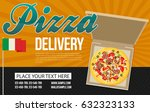 pizza box vector advertisement... | Shutterstock .eps vector #632323133
