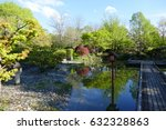 Stock photo a japanese garden with elements of shinto and zen buddhism in a public park in munich 632328863