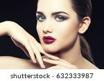 beautiful close up portrait of... | Shutterstock . vector #632333987