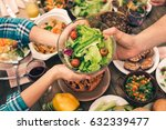 nice family having tasty dinner | Shutterstock . vector #632339477