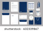 corporate identity design... | Shutterstock .eps vector #632339867