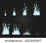 vector effect. effect for game. ... | Shutterstock .eps vector #632340347