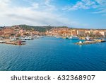 view the town of la maddalena... | Shutterstock . vector #632368907