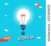 web marketing action plan... | Shutterstock .eps vector #632369603