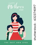 happy mothers day card... | Shutterstock .eps vector #632374097