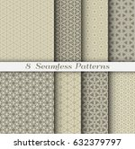 set of 8 seamless islamic... | Shutterstock .eps vector #632379797