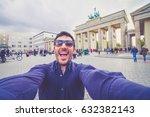 berlin  germany  a happy... | Shutterstock . vector #632382143