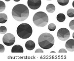 abstract monochrome triangle... | Shutterstock .eps vector #632383553