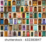 Collage Of Wooden  Colourful...