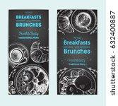 breakfast and brunches vintage...   Shutterstock .eps vector #632400887