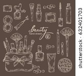 beauty collection with... | Shutterstock .eps vector #632401703