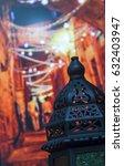 egyptian vintage metal lantern...   Shutterstock . vector #632403947