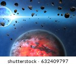 space background with planets... | Shutterstock . vector #632409797