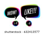 colorful bubbles with smile... | Shutterstock .eps vector #632413577