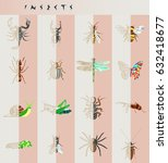 set of insects icons. abstract...   Shutterstock .eps vector #632418677