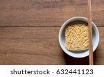 instant noodles in a white bowl ... | Shutterstock . vector #632441123