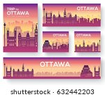set of ottawa landscape country ... | Shutterstock .eps vector #632442203