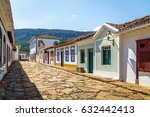 colorful colonial houses and... | Shutterstock . vector #632442413