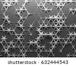 white polygonal triangle... | Shutterstock . vector #632444543