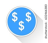 dollars button icon business... | Shutterstock . vector #632466383