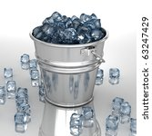 Bucket with ice - stock photo