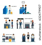 airport terminals set with...   Shutterstock .eps vector #632479907