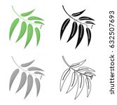 eucalyptus vector icon in... | Shutterstock .eps vector #632507693