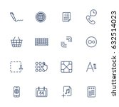 thin line icon set. icons for...