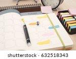 business calender planner... | Shutterstock . vector #632518343