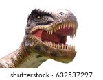 brown tyrannosaurus head on... | Shutterstock . vector #632537297