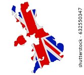 united kingdom vector map with... | Shutterstock .eps vector #632550347