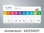 folder infographics design... | Shutterstock .eps vector #632554037
