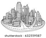 abstract cityscape background ... | Shutterstock .eps vector #632559587
