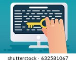 seo content or keyword concept. ... | Shutterstock .eps vector #632581067