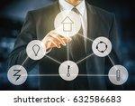 futuristic interface of smart... | Shutterstock . vector #632586683