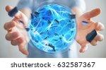 businessman creating an... | Shutterstock . vector #632587367