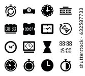 countdown icons set. set of 16... | Shutterstock .eps vector #632587733