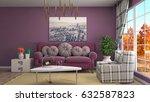 interior living room. 3d... | Shutterstock . vector #632587823
