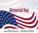 memorial day. national american ... | Shutterstock .eps vector #632613443