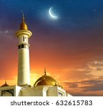 ramadan kareem background  with ... | Shutterstock . vector #632615783