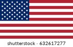 the us flag with the correct... | Shutterstock .eps vector #632617277