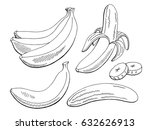 banana fruit graphic black... | Shutterstock .eps vector #632626913
