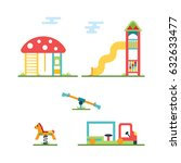 playground icon set  eps 8 no... | Shutterstock .eps vector #632633477