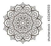 mandala. ethnic decorative... | Shutterstock .eps vector #632639033