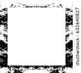 grunge black white square... | Shutterstock .eps vector #632640827