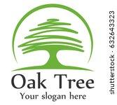 oak tree logo template | Shutterstock .eps vector #632643323