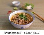 beef rice noodles  vietnamese... | Shutterstock . vector #632644313