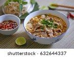 beef rice noodles  vietnamese... | Shutterstock . vector #632644337